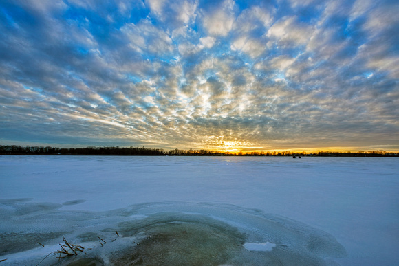 sunset over frozen lake 20190306 _DSC2622