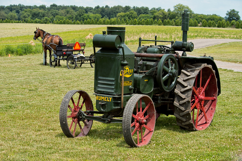 Rumely Tractor and Horse and Buggy