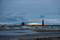 Grand Haven Lighthouse at Dusck