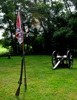 Confederate Flag in Civil War Reenactment