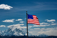 America Flag and MtMcKinley