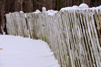 Snow Fence in Winter