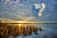 hole in clouds at sunset shipshe lake 20171220 _DSC8455